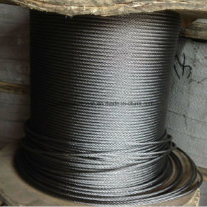 Elevator Galvanized Steel Wire Rope 8X19s+FC 8X19+Sisial Core/Factory Ungalvanized and Galvanized High Tension Steel Wire Rope (XM030) pictures & photos