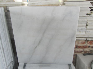 China Natural Stone Polished Chiva White Stone Tiles for Floor/Kitchen/Bathroom pictures & photos