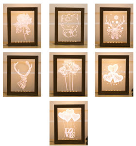 3D Photo Frame USB Lamp Nightlight pictures & photos