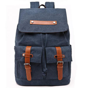 Canvas Bag Leather Canvas Bag Traveling Backpack Canvas Backpack Man Bag From China Factory Sy7858 pictures & photos