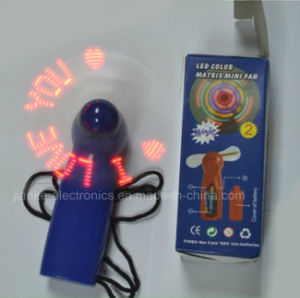 Promotion Gift Mini LED Flashing Fan (3509) pictures & photos