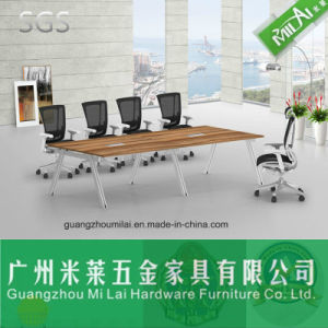 Attractive Price Design Straight Office Conference Meeting Table & Dining Table with Metal Foot pictures & photos