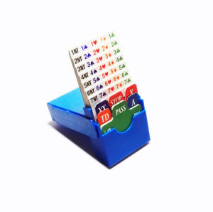 High Quality Bidding Box Cards for Bridge Championship pictures & photos
