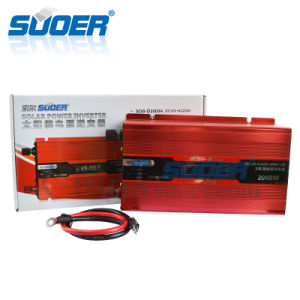 Suoer 2kw 12V 220V Intelligent Solar off Grid Power Inverter with LCD Display (SDB-D2000A) pictures & photos