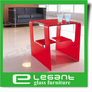 Clear Bent Glass Center Table with Two Side Doors pictures & photos