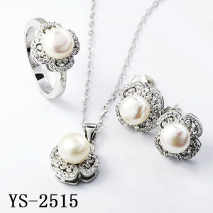 Pearl Jewelry Sets 925 Sterling Silver Pearl Sets with CZ pictures & photos