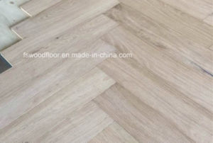 Unfinished Oak Herribone Parquet Flooring pictures & photos