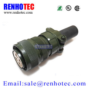Circular Mil Spec Connector 4p Size 20 Straight Socket Ms3106 with Solder Pins pictures & photos