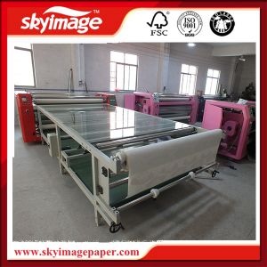 Multi Functional 600mm*1.2m Oil Based Roll to Roll Heat Transfer Machine with Imported DuPont Blanket pictures & photos