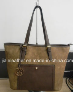 Women′s PU Leather Tote Bag WT0031-2