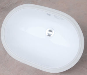 Bathroom Sanitaryware Oval Undermount Ceramic Wash Basin pictures & photos