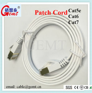 Cat5 Cat5e CAT6 Cat 6A Cat7 Flat Network Cable Patch Cord Cable with RJ45 pictures & photos