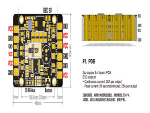 Matek LED & Power Hub Pdb 5in1 V3 Power Supply Board pictures & photos