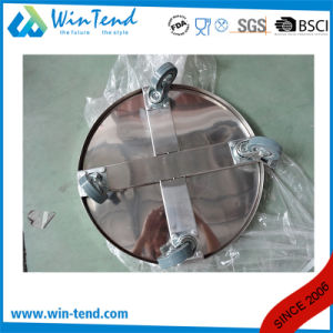 Manufactory Stainless Steel Stockpot and Dustbin Easy Transport Cart with Wheels pictures & photos