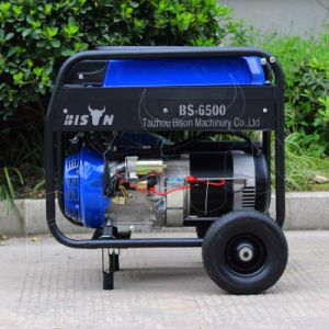 Bison (China) Factory Price BS5500 4kw 4000W 4kVA Copper Wire AC Single Phase Portable 13HP Gasoline Generator Air Cooled pictures & photos