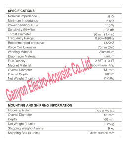 Gt-7506na Wholesale Hot Selling Low-Power Tweeter, Compression Driver pictures & photos