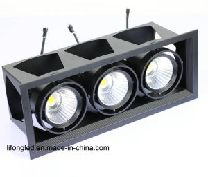 3 Years Warranty 3*15W 3*18W COB LED Grille Downlights pictures & photos