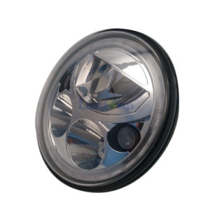 "J259 Lantsun 7"" 55W/35W Round High Low Beam LED Halo Headlight for Jeep Wrangler Jk 07+ pictures & photos"