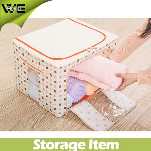 Large Fabric Decorative Folding Storage Box Containers with Lids pictures & photos