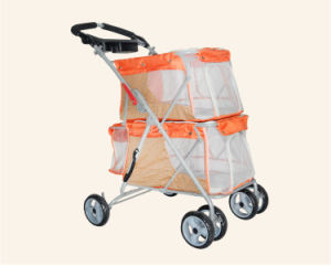 Strong Dog Products Double Layers Outdoor Twins Pet Strollers pictures & photos