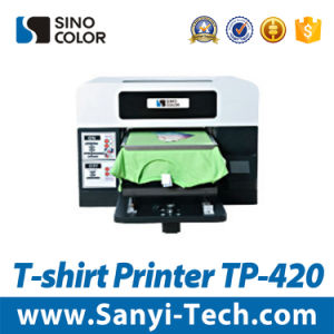 Sinocolortp-420 Digital T-Shirt Machine Textile Printing Machine Digital Direct to Garment Printing pictures & photos