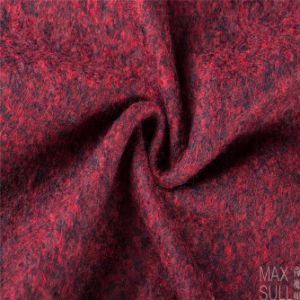 Compound Flower, Wool and Polyester Fabric in Dark Red pictures & photos