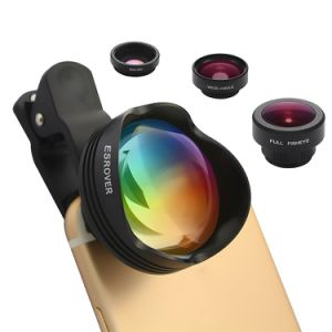 180 Degrees Fisheye Lens+15X Macro Lens+0.65X 100 Degrees Wide Angle Lens+3X Optical Zoom Telephoto Camera Phone Lens
