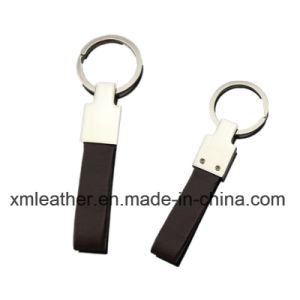 Full Grain Leather Card Key Chain Holder with Ring pictures & photos