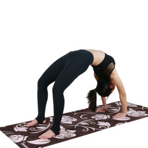 Meditation Yoga Mat Suede Mat with Customized Design Antislip Natural Tree Rubber pictures & photos