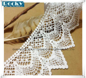 13cm Width Cotton Lace Trim Embroidered Wedding Lace pictures & photos
