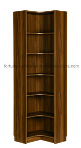 Modern Wooden Walnut Color Corner Bookcase (B706-0.6L) pictures & photos