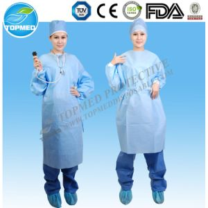 Disposable Eo Sterile Surgical Gown with Knitted Cuff, Reinforced Medical Gowns pictures & photos