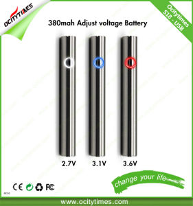 Ocitytimes 380mAh Adjustable Voltage S18 Preheat Vape Pen Battery pictures & photos