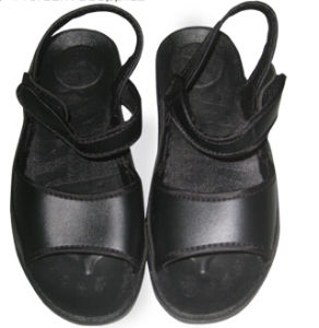 Anti Slip ESD Cleanroom Black TPU Sandals pictures & photos