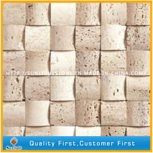 Natural Roman Beige Marble Stone Travertine Mosaic for Wall Decoration pictures & photos