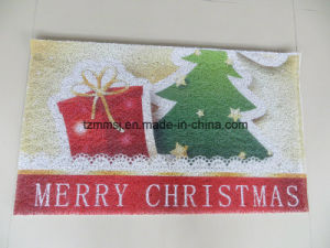 Merry Christmas Holiday PVC Coil Floor Mat Bathroom Mat pictures & photos