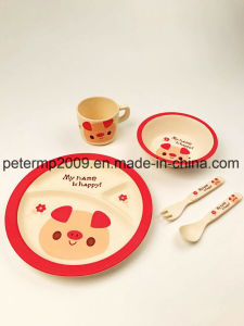 Newly Children High Quality Bamboo Fiber Dinner Set pictures & photos
