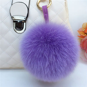 New Fox Fur Pompom / Fur POM Keychain pictures & photos