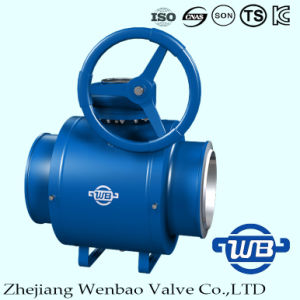Standard GOST Flanged Port All Welded Ball Valve pictures & photos