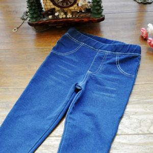 Kids Denim Jeans Pants Hight Quality with Elastic Waist pictures & photos