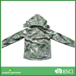 Camouflage Security Military Tactical Outdoor Hoodie Softshell Jacket pictures & photos