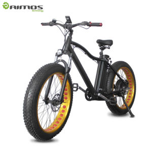 26′′ 4.0 Fat Tire Electric Mountain Bike with Front Suspension Fork pictures & photos