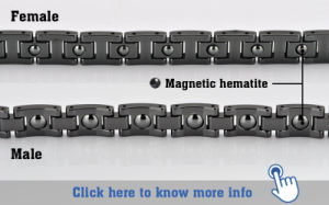 Hottime Wholesale Magnetic Bracelet for Lady with Tourmaline (10072) pictures & photos
