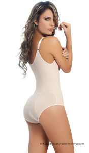 Women′s Clip&Zip Latex Tummy Control Body Shapewear pictures & photos