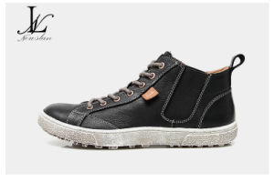 High Top Genuine Leather Hot Sales Sneakers Boot (LT-004) pictures & photos