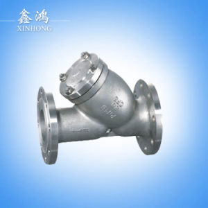 304 Stainless Steel Flanged Strainer Valve Dn100 Made in China pictures & photos