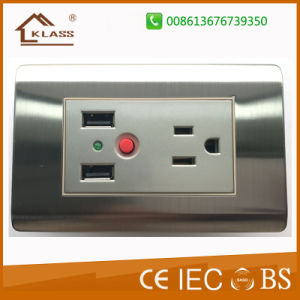 Dual USB Charger Socket with 3 Pole Socket pictures & photos