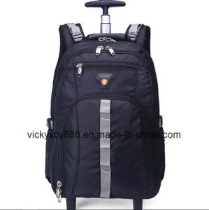 Double Shoulder Business Travel Wheeled Trolley Computer Laptop Bag Backpack pictures & photos