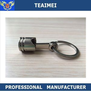 Piston Car Metal Chrome Keyholder Key Rings