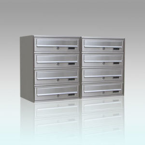 Stainless Steel Modern Combination Standing Mailbox pictures & photos